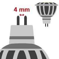 LED MR11/GU4 ( 12V )