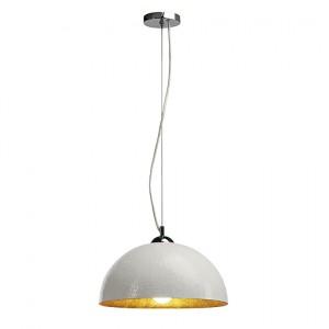 forchini pd 2 pendelleuchte wei chrom innen gold e27. Black Bedroom Furniture Sets. Home Design Ideas