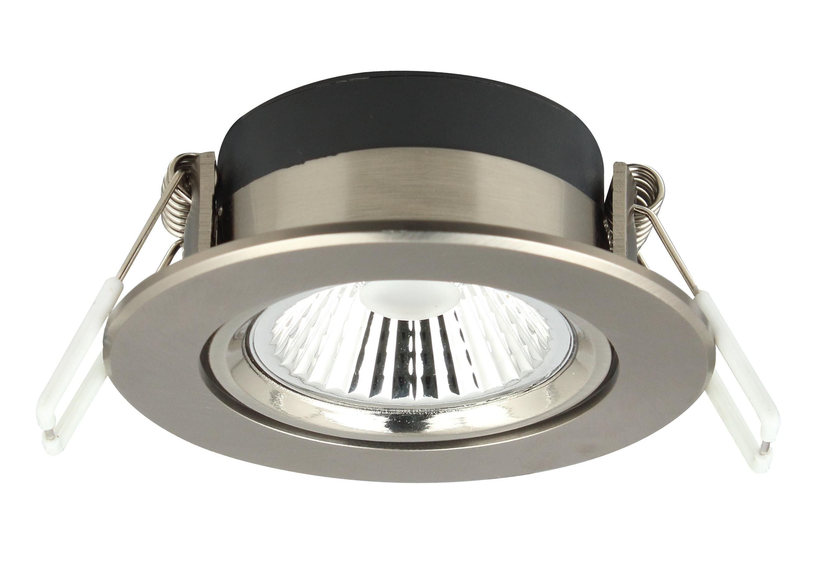 LED Downlight Nickel Einbauleuchte 6W 400lm 2700K superflach dimmbar ...