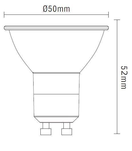 civilight halight spot gu10 6w 345lm warmwei dimmbar 2700k 2300k. Black Bedroom Furniture Sets. Home Design Ideas