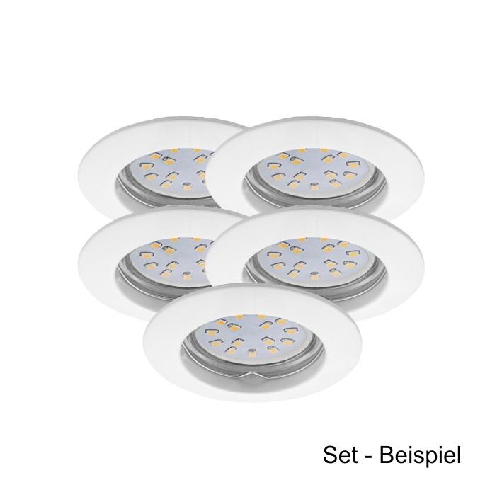 led einbaustrahler set kanlux gu10 230v 5 watt warmwei es licht quivalent 35w halogen. Black Bedroom Furniture Sets. Home Design Ideas