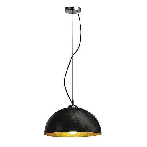 forchini pd 2 pendelleuchte schwarz chrom innen gold e27. Black Bedroom Furniture Sets. Home Design Ideas