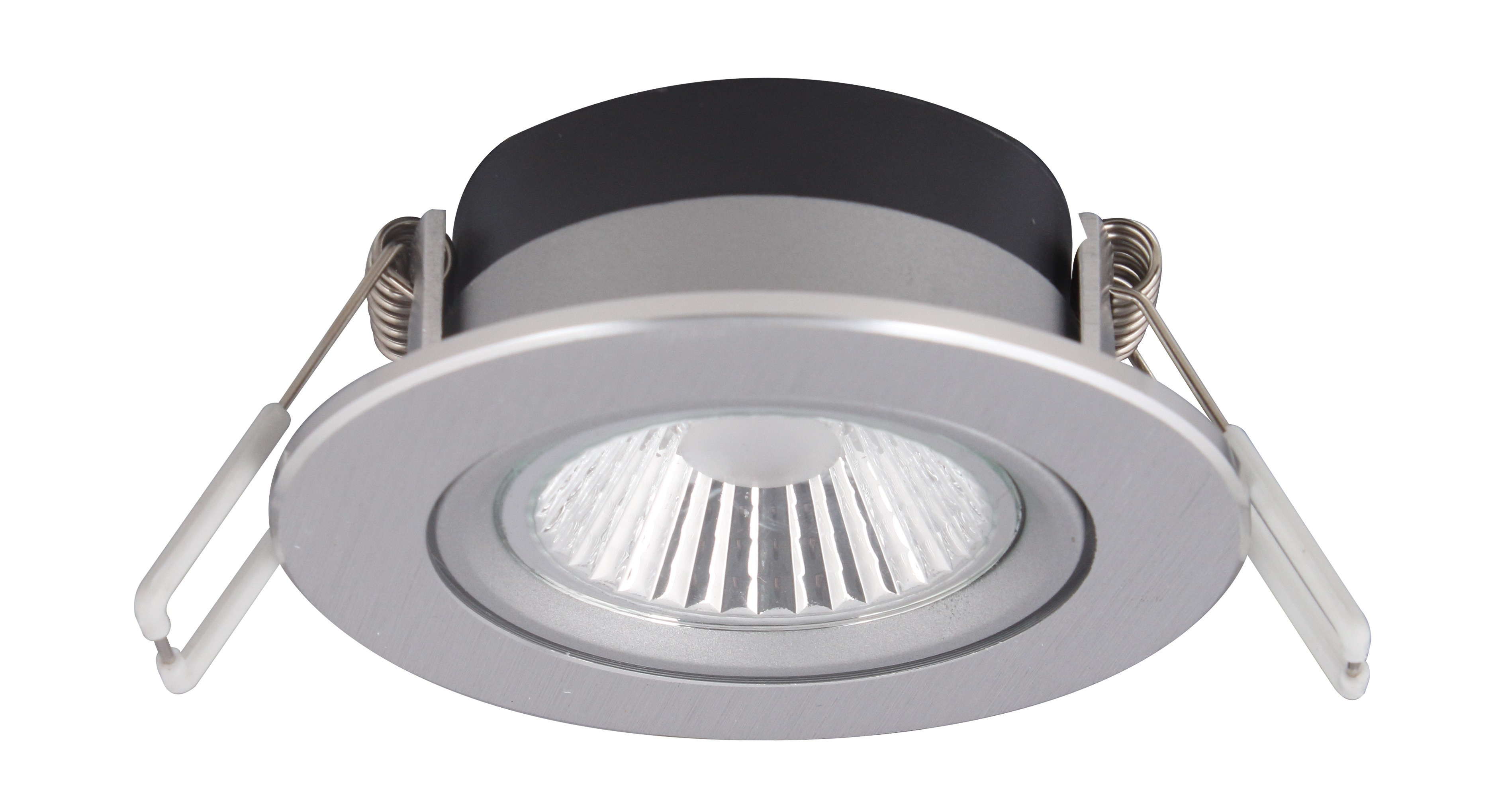 LED Downlight Alu Einbauleuchte 6W 400lm 2700K superflach dimmbar ...
