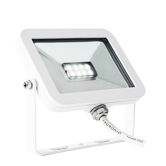 led au enstrahler ip65 flache bauform warmwei es licht. Black Bedroom Furniture Sets. Home Design Ideas