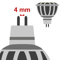 LED MR11/GU4 ( 12V )