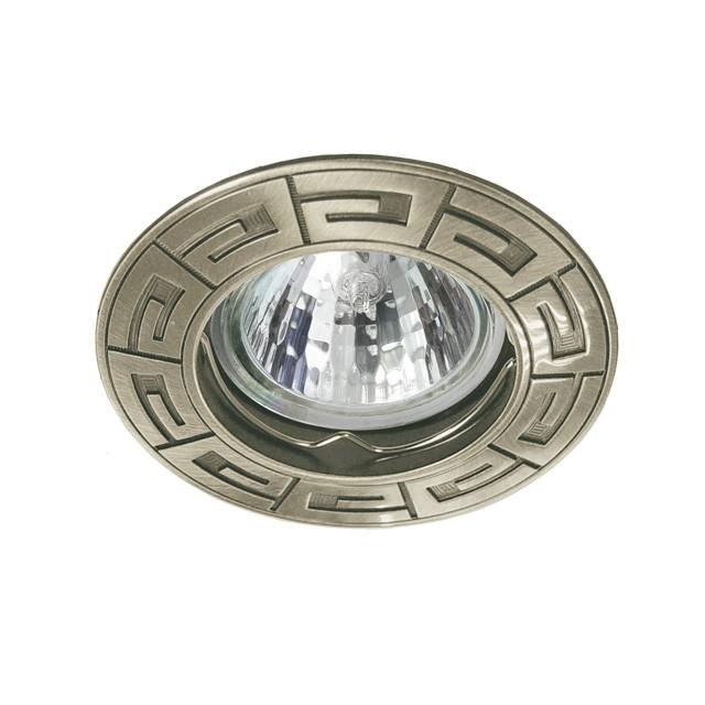 3_Einbaustrahler-Einbaurahmen RODOS CT-DS, rund, Alu Druckguss, 85mm, Satinnickel