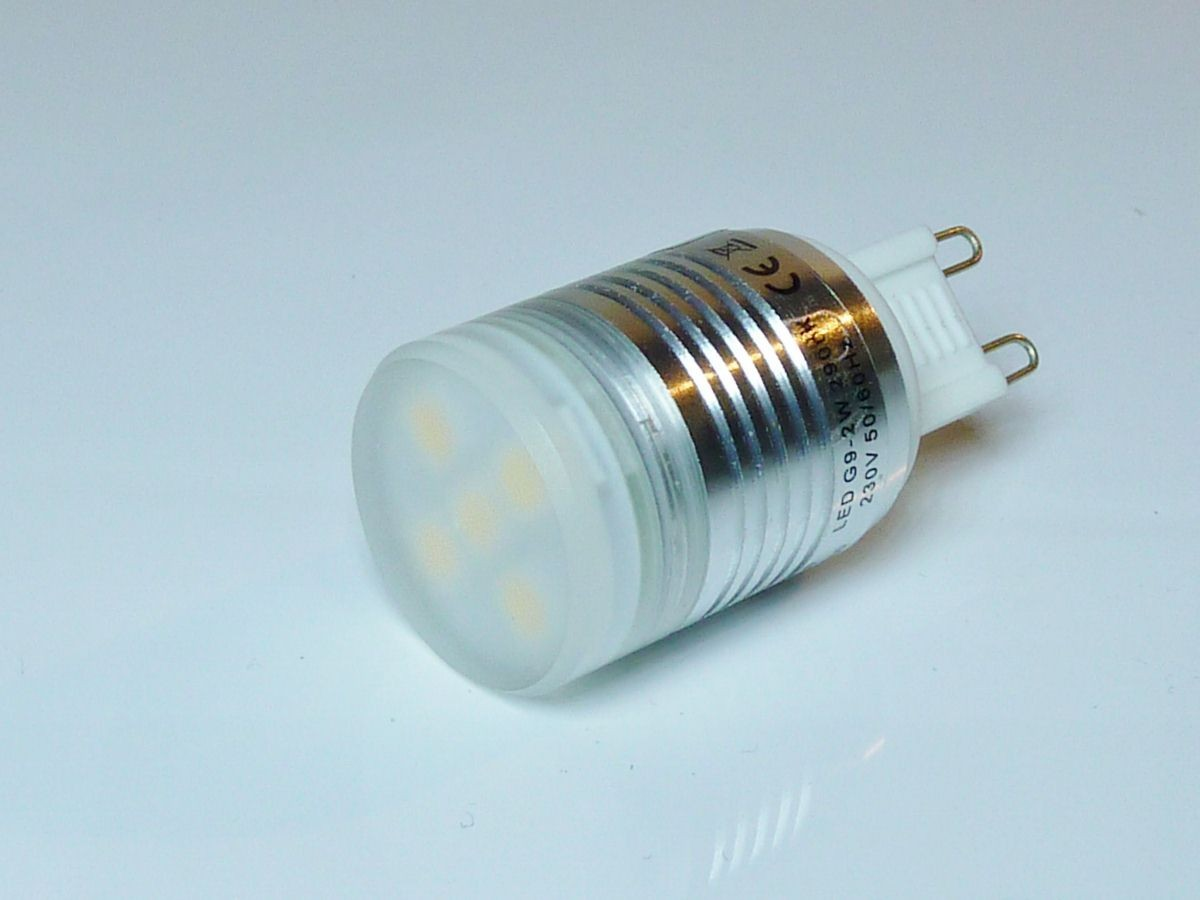 1_Heitronic 16500 LED Leuchtmittel G9, 2W, 100lm, warmweiß