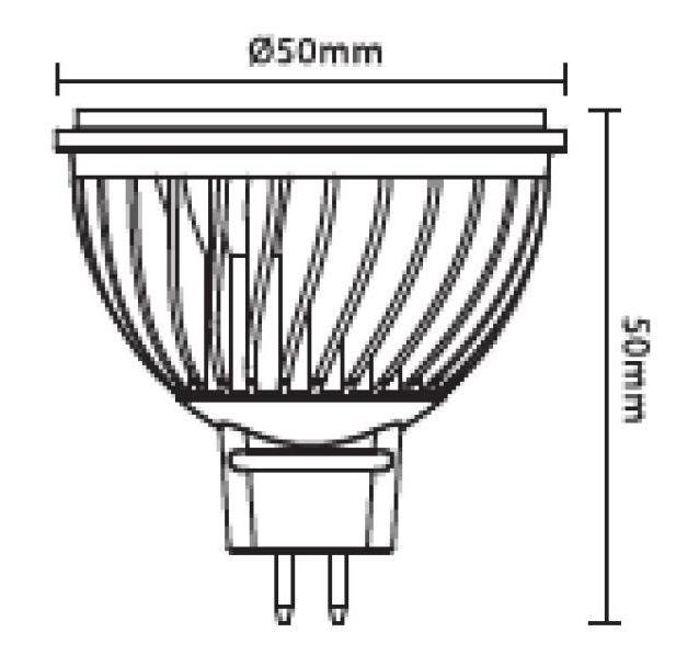 blendfrei dimmbar Civilight HALED III MR16 9W 36° Ra95 warmweiß 500lm 3000K