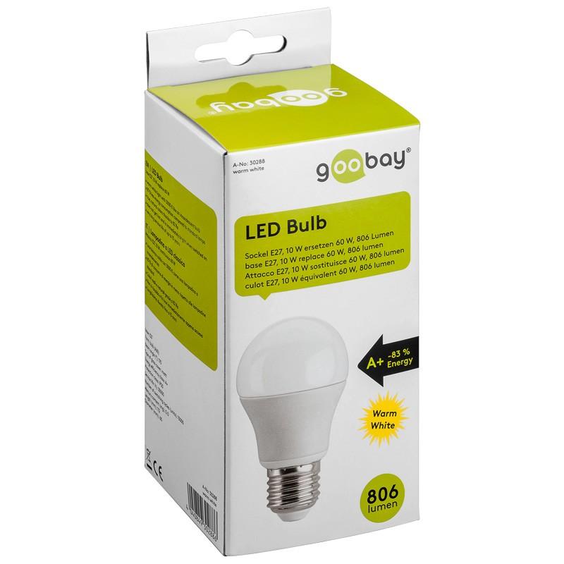 1_Goobay 30288 LED Birne A60, E27 170°, warmweiß, 10W, Goobay 30288 LED Birne A60, E27 170°, warmweiß, 10W, 740lm