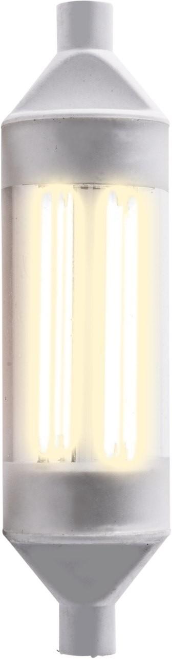 1_LED Leuchtmittel R7s Stabform 118mm, warmweiß 600lm 16509 Heitronic
