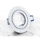 LC-Light ALU Einbaustrahler Weiß Glänzend rund mit Klickverschluss IP44