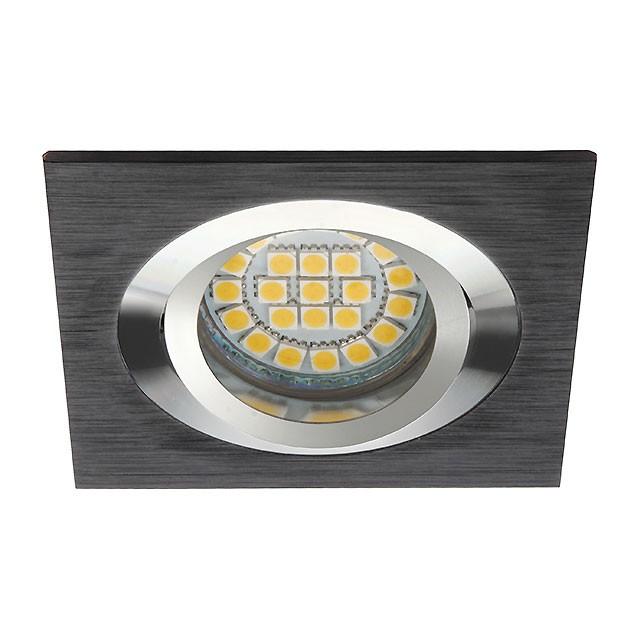 Einbaurahmen SEIDY CT-DTL50-B, 18289 Kanlux, eckig, Aluminium schwarz, 90x90 mm
