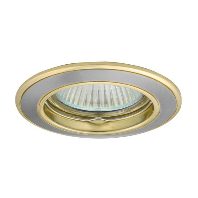 5_Einbaustrahler-Einbaurahmen BASK CTC-5514, rund, Alu Druckguss, 78mm, Satinnickel/Gold