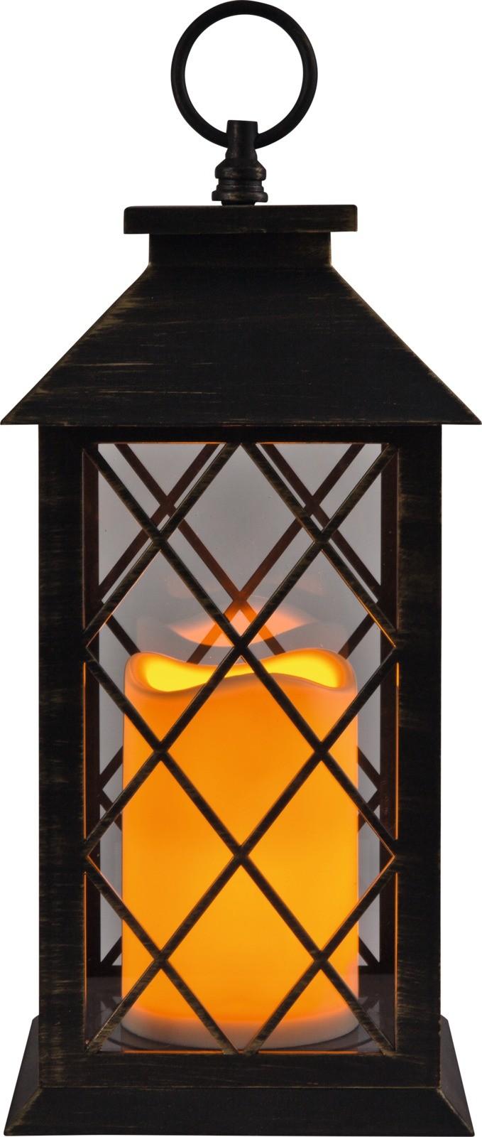 1_LED Laterne Marius, mit Flackerlicht in warmweiss Batteriebetrieb Ein- /Ausschalter für den Innenbereich