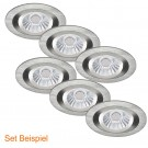 1_LED Set Kanlux Seidy 18280 rund, Civilight Haled 97386, GU10, 7W, 230V warmweiss dimmbar