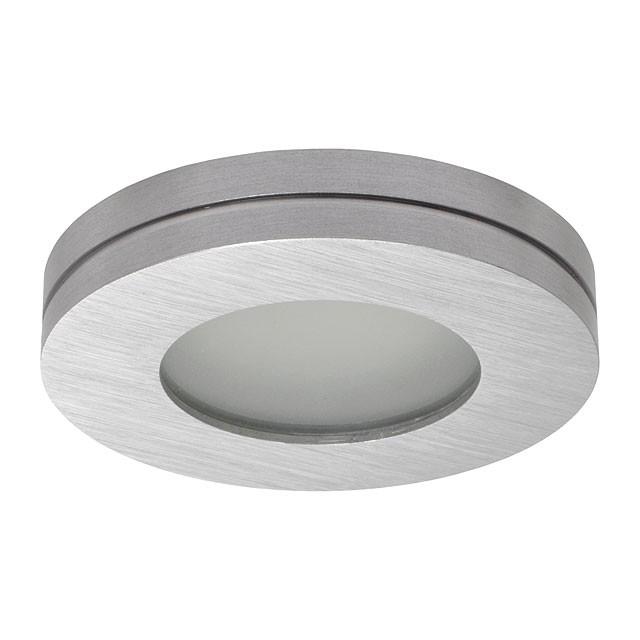 Einbaustrahler-Einbaurahmen RONA, rund, Alu / Glas, 90mm