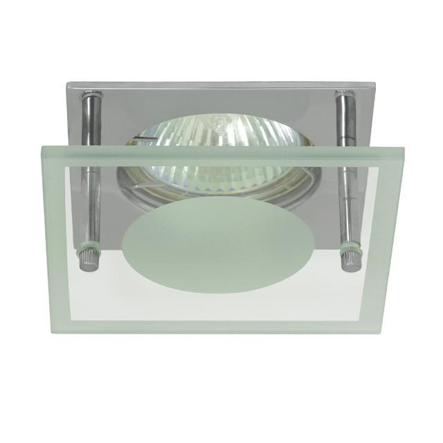 1_Einbaustrahler NOMA CTX-DS10G/A-C, MR-16, eckig, Chrom/Glas, 85mm x 85mm
