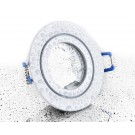 LC-Light ALU Einbaustrahler Weiß Matt rund mit Klickverschluss IP44