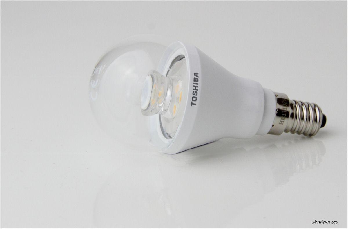1_Toshiba LED LDGC0627CE4EUC,4974550435789, 506211, Tropfenlampe, Golfball E14, 6W warmweiß, 2700K, 250lm