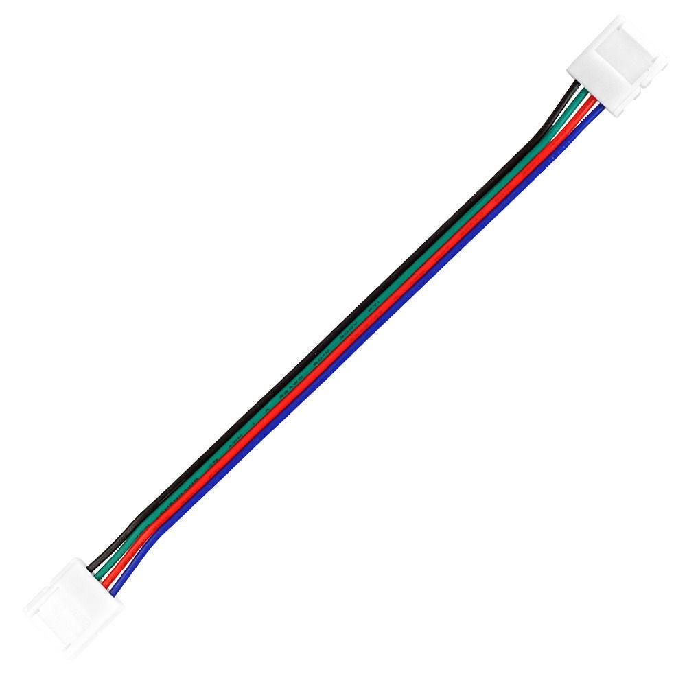 LED Verbinder Stecker/Stecker 10mm für farbige RGB LED Strips