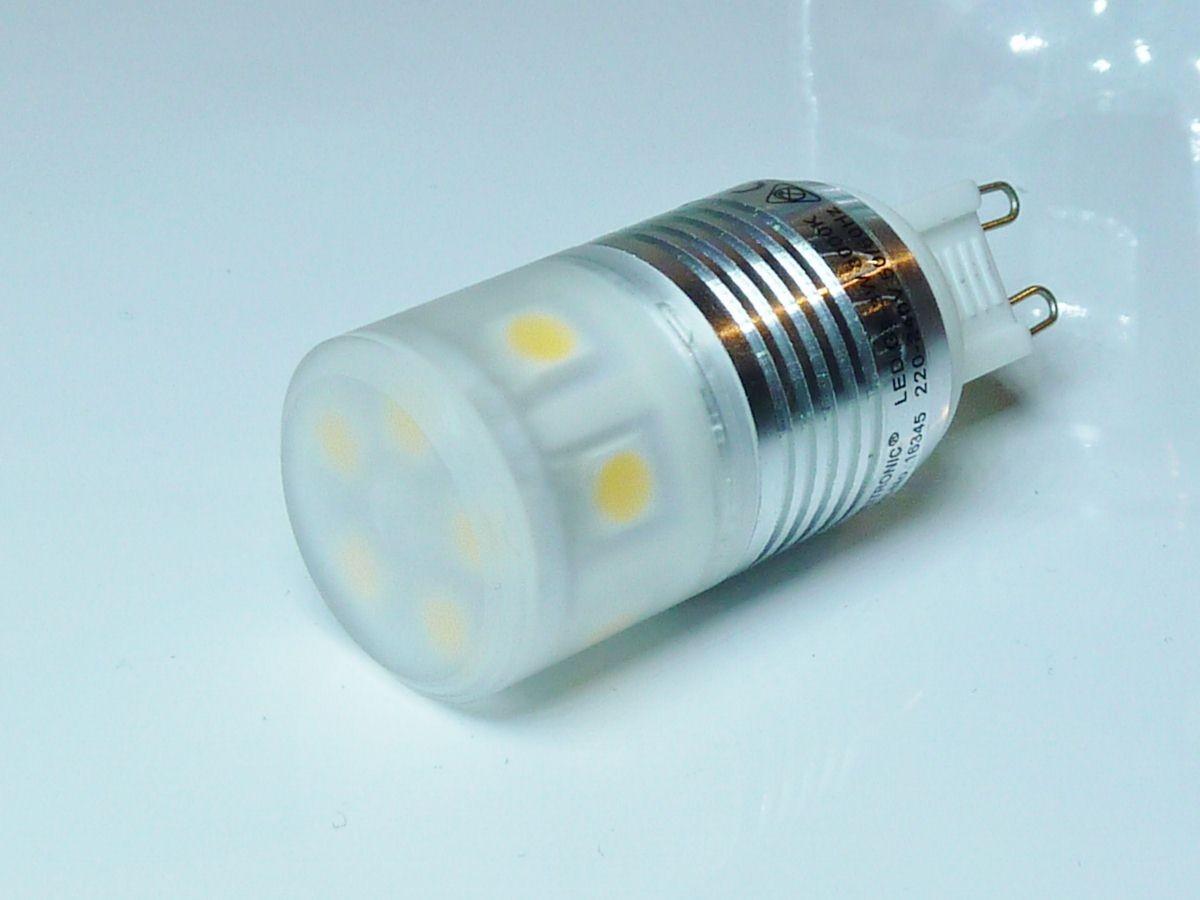 1_Heitronic 16345 LED Leuchtmittel G9, 3W, 210lm, warmweiß