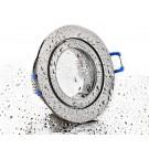 LC-Light ALU Einbaustrahler Eisengebürstet rund mit Klickverschluss IP44