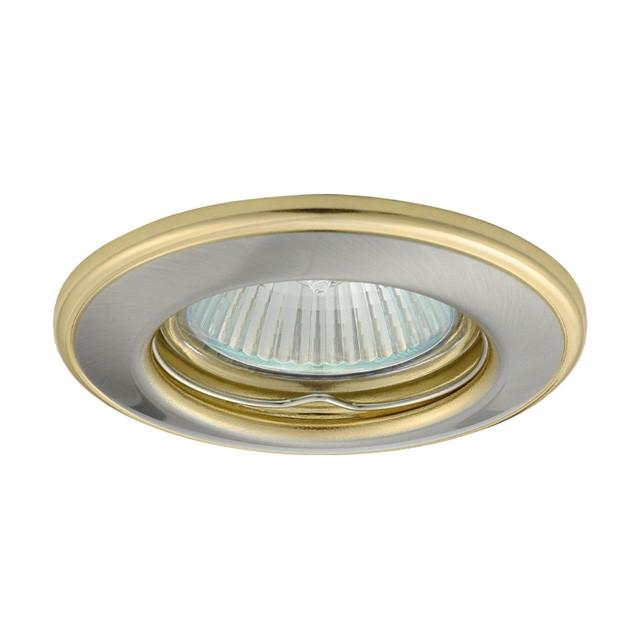 4_Einbaustrahler-Einbaurahmen HORN CTC-3114, rund, Stahlblech, 82mm, Satinnickel/Gold